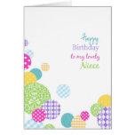 Feliz cumpleaños de los puntos coloridos a mi sobr tarjetas