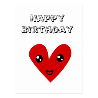 Feliz cumpleaños de mi corazón feliz postales
