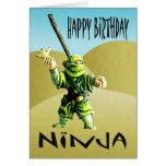 Feliz cumpleaños de Ninja Tarjeta De Felicitación