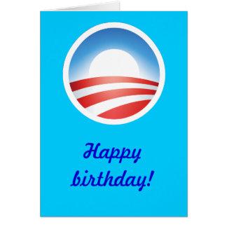 ¡Feliz cumpleaños de Obama! Felicitacion