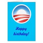 ¡Feliz cumpleaños de Obama! Tarjeta De Felicitación