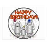 Feliz cumpleaños de Robo-x9 y de la familia Tarjetas Postales