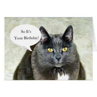 Feliz cumpleaños de su tarjeta de felicitación del