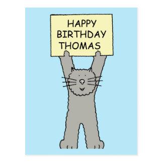 Feliz cumpleaños de Thomas Postal