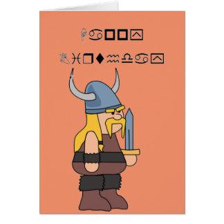Feliz cumpleaños de Wingding Viking Tarjeta De Felicitación