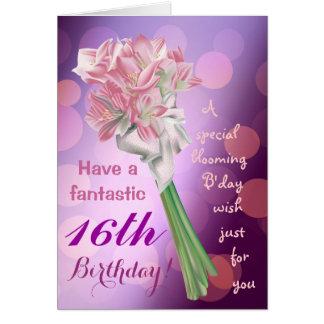 ¡Feliz cumpleaños! - décimosexto tarjeta de