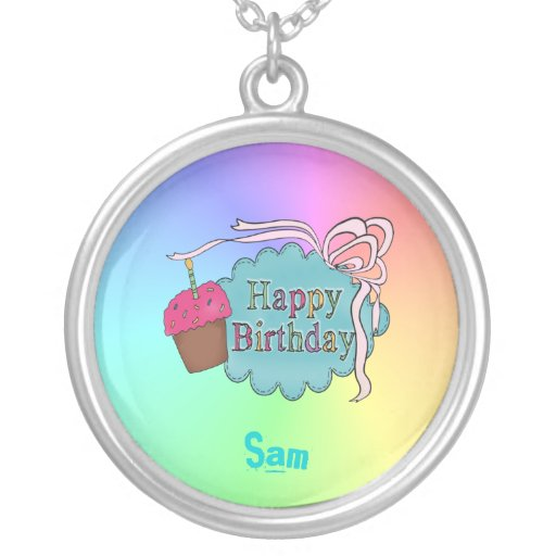 Feliz cumpleaños del cumpleaños colgante redondo