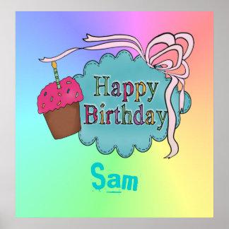 Feliz cumpleaños del cumpleaños póster