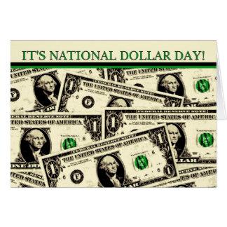 Feliz cumpleaños del día nacional del dólar tarjeta de felicitación