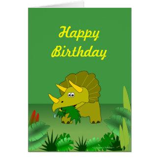 Feliz cumpleaños del dinosaurio adaptable del tarjeta de felicitación