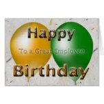 Feliz cumpleaños del empleado felicitación