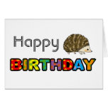 Feliz cumpleaños del erizo lindo felicitaciones