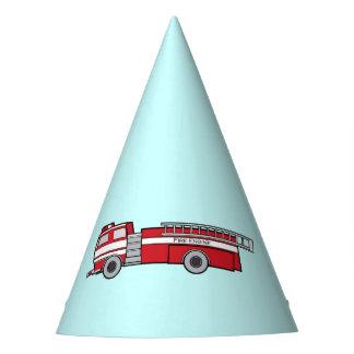 Feliz cumpleaños del Firetruck Gorro De Fiesta