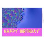 Feliz cumpleaños del fractal bonito tarjetón