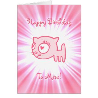 ¡feliz cumpleaños del Gato-uno-portero a maullar! Tarjeta De Felicitación