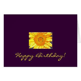 ¡Feliz cumpleaños del girasol! Tarjeta Pequeña