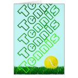 feliz cumpleaños del jugador de tenis tarjeta de felicitación