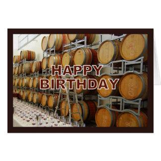 Feliz cumpleaños del lagar tarjeta de felicitación