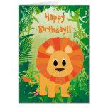 Feliz cumpleaños del león lindo felicitaciones