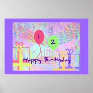 Feliz cumpleaños del niño dos años poster