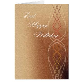 Feliz cumpleaños del papá tarjeta de felicitación