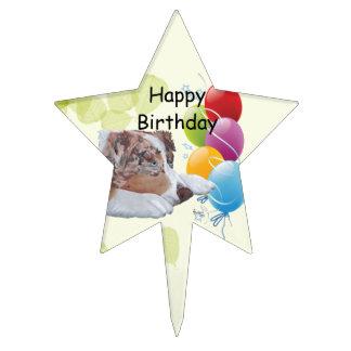 Feliz cumpleaños del pastor del ~ de la hoja austr decoraciones para tartas