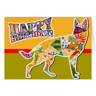 Feliz cumpleaños del perro de pastor alemán tarjeta de felicitación