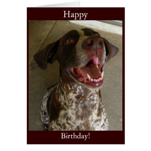 Feliz cumpleaños del perro feliz tarjeta de felicitación