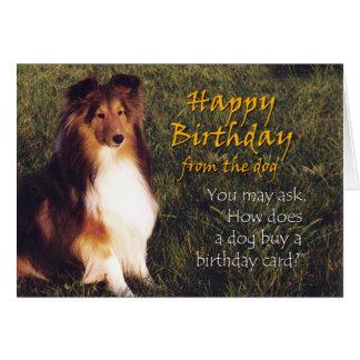 Feliz cumpleaños del perro felicitacion