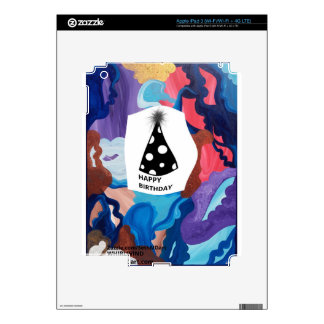 Feliz cumpleaños del torbellino pegatinas skins para iPad 3