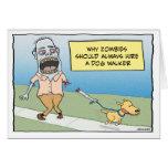 Feliz cumpleaños del zombi del caminante divertido tarjeta de felicitación