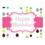 Feliz cumpleaños (descensos del rasgón) tarjeta postal