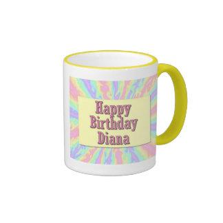 Feliz cumpleaños Diana Tazas De Café