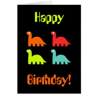 ¡Feliz cumpleaños dinámico de Dinos! Tarjeta de fe