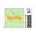 Feliz cumpleaños - diseño del lunar sellos