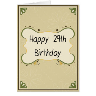 Feliz cumpleaños divertido - 29no… otra vez tarjeta de felicitación