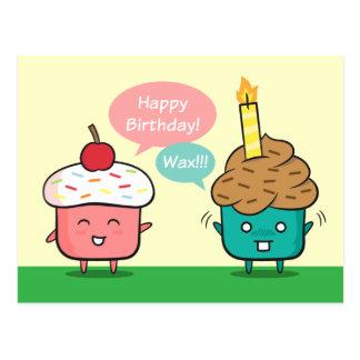 Feliz cumpleaños divertido - aflicciones de la vel tarjeta postal