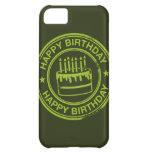 Feliz cumpleaños - efecto verde del sello de goma