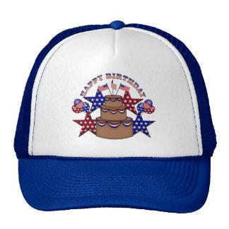 Feliz cumpleaños el 4 de julio gorras de camionero