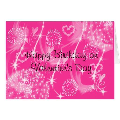 Feliz cumpleaños el el día de San Valentín Tarjeta