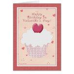 Feliz cumpleaños el el el día de San Valentín - ma Felicitación