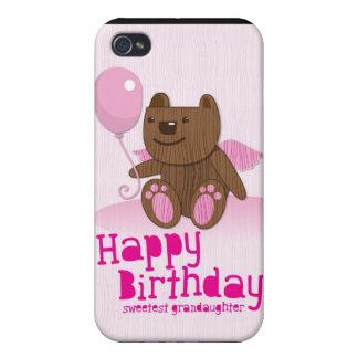 Feliz cumpleaños el Grandaughter más dulce iPhone 4/4S Fundas