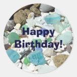 ¡Feliz cumpleaños! el sobre de los pegatinas sella Etiqueta Redonda
