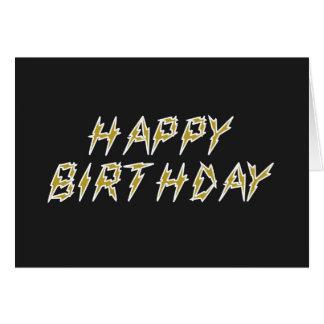 Feliz cumpleaños eléctrico tarjeton