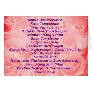 Feliz cumpleaños en 16 idiomas felicitacion