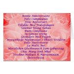 Feliz cumpleaños en 16 idiomas tarjeta de felicitación