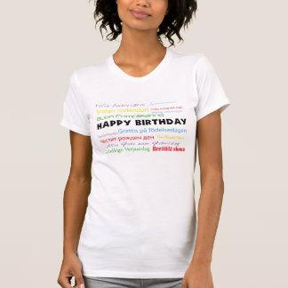 Feliz cumpleaños en camisetas sin mangas de muchas