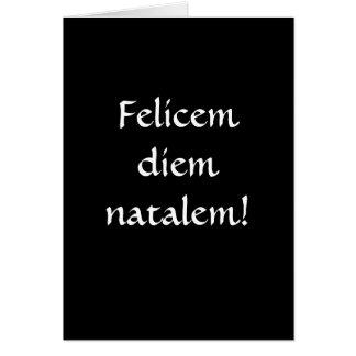 ¡Feliz cumpleaños… en latín Tarjetón