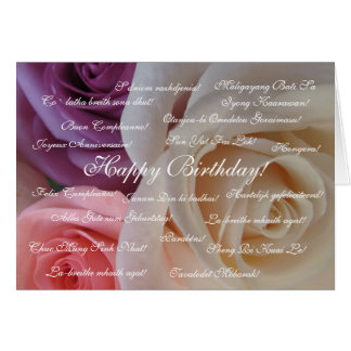 Feliz cumpleaños en muchas idiomas felicitacion