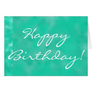 Feliz cumpleaños en tarjeta de felicitación de Tur